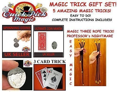 Quick Pick Magic Amazing Magic Trick Gift Set 5 Easy To Do Magic Tricks For Beginner Magicians Great Gift Amazon Co Uk Toys Games