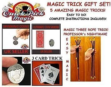 Quick Pick Magic Amazing Tour De Magie Ensemble Cadeau 5 Facile A Faire Tours De Magie Debutant Magiciens Idee Cadeau Amazon Fr Jeux Et Jouets