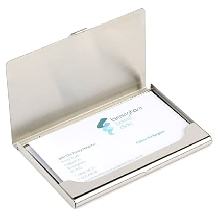 business card holder dmfly card holder business card case for women and men silver - Amazon Business Card Holder