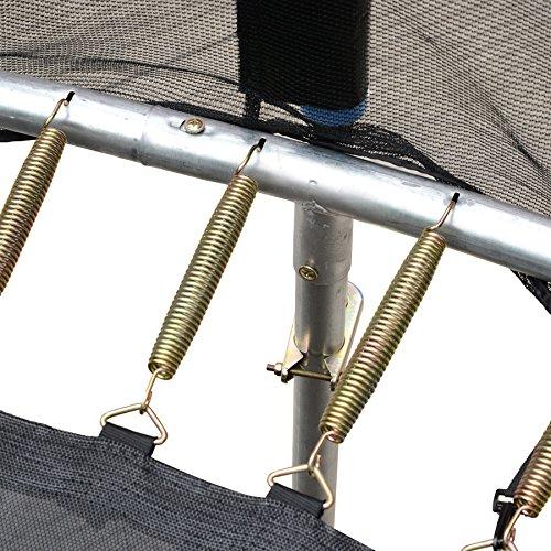 Amazon.com : Exacme 8 FT Trampolín de Alto peso con almohadilla de seguridad, red de cierre, escalera y Aroma de baloncesto Verde, Black Net Mat, ...