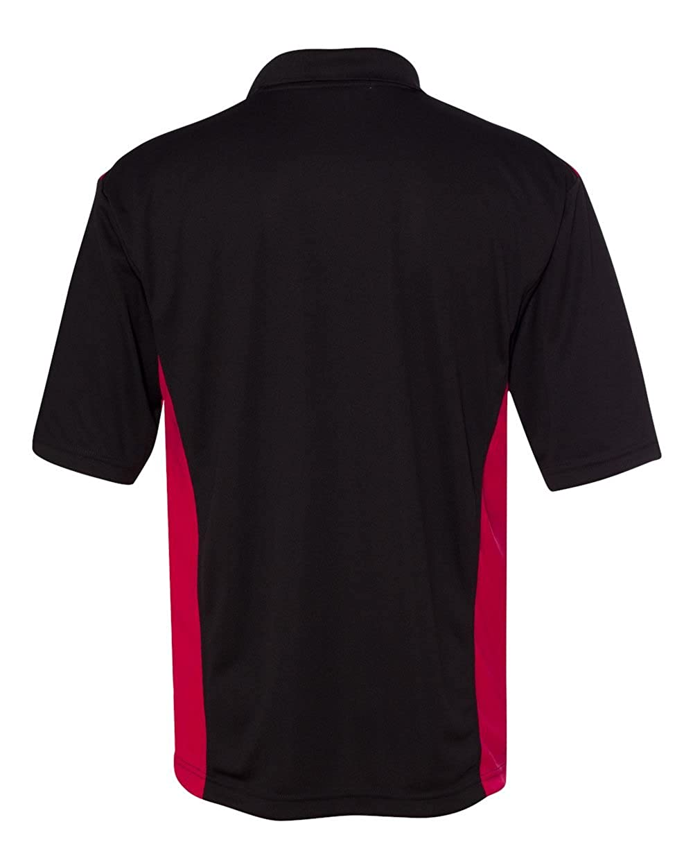 FeatherLite Mens 0466 Spirit Racing Colorblocked Moisture-Free Mesh Short Sleeve Sport Polo Shirt