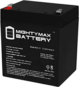 Mighty Max Battery ML5-12 - 12V 5AH Chamberlain 41A6357-1 Garage Door Opener Battery Brand Product