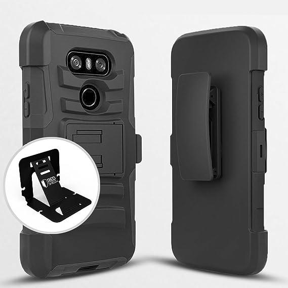 separation shoes 3895f 0ede4 Amazon.com: LG G6 Holster Case, [Standard Black] Supreme Protection ...