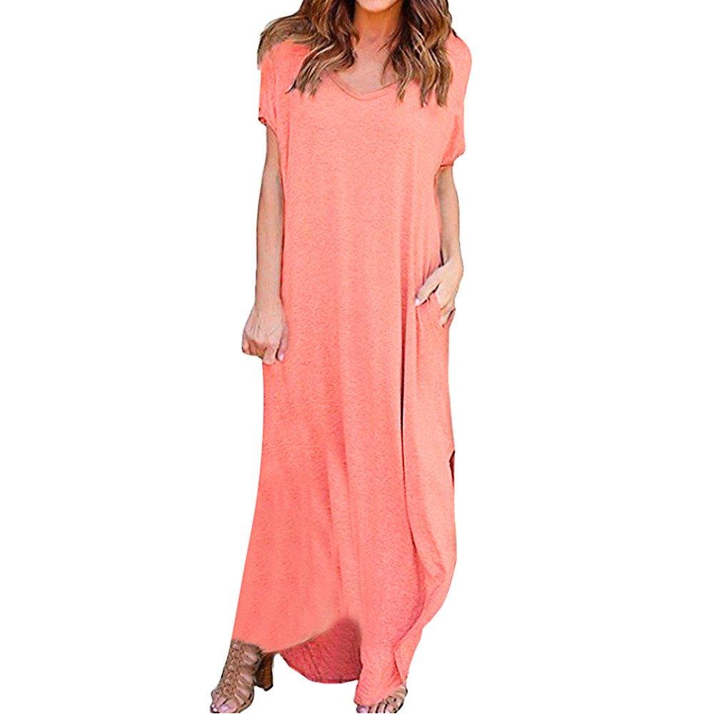 WOCACHI Womens Stripe Dresses Sleeveless Casual Dress Round Neck Vestido Midi Color Block Irregular Hem Party Sundress 2019 New Summer Deals Under 10 Dollars Evening Dress by WOCACHI Women Skirts
