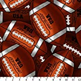 Footballs Fleece Throw Blanket with Finished Edges Sports
