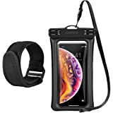 CHOETECH Floating Waterproof Case, Waterproof Pouch Dry Bag with Armband & Neck Strap Compatible with iPhone Xs/X/8 Plus/8, Samsung Galaxy S10/S9/S8 and All Devices Up to 6 Inches