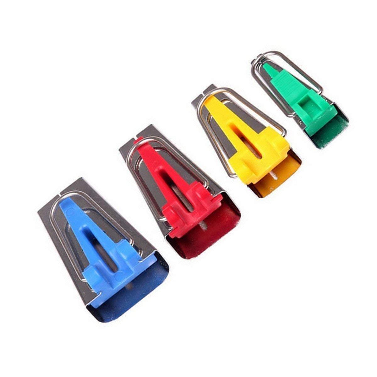 TuDu Lot de 4 Appareils à Biais/Bandes Fusible de Tissus de Tailles Différentes pour Fabriquer Largeur Bias Tape 6mm 12mm 18mm 25mm