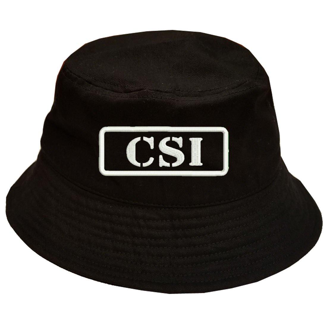 Amazon.com  Military CSI Crime Scene Investigation 100% Cotton Black Bucket  Cap Hat  Sports   Outdoors f5ee985982a6