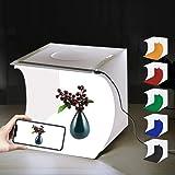 Mini Photo Studio Box, PULUZ 20cm Portable Photography Shooting Light Tent Kit, White Folding Lighting Softbox with 20 LED Li
