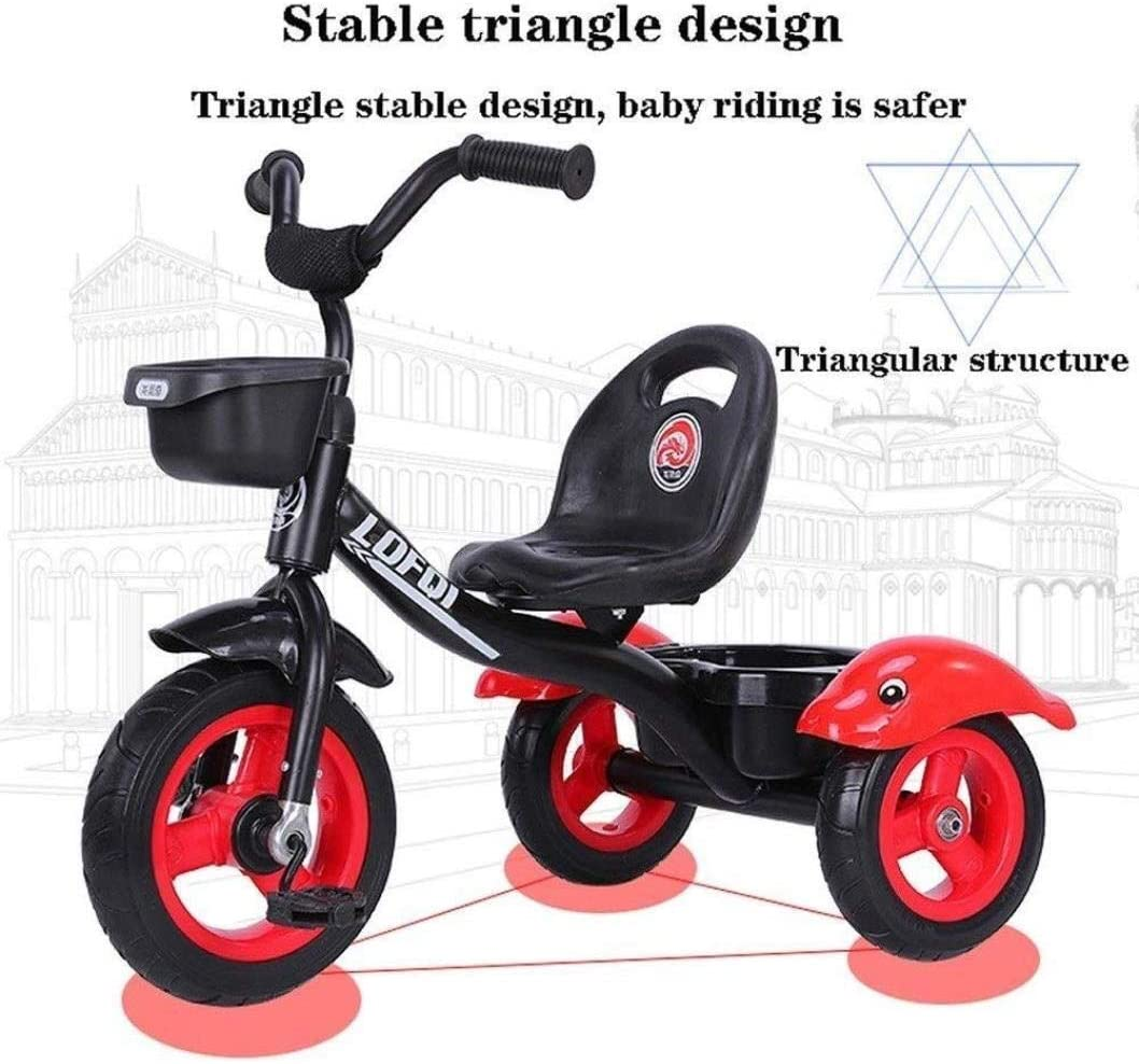 File Cabinets Childrens Horse Trikes Tricycle Stroller 2-in-1 Parent Push Tricycle Kids Toddler Bike Toddler Steel Frame Adjustable Height Push Ride File Cabinet