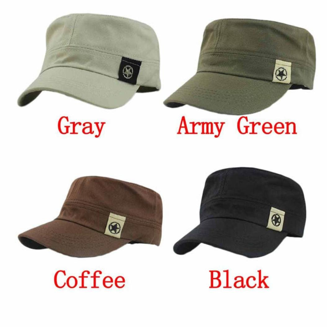 Transer Flat Roof Military Hat Cadet Patrol Bush Hat Baseball Field Cap