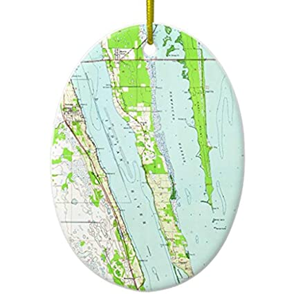 Cocoa Florida Map.Amazon Com Cheyan Vintage Map Of Cocoa Florida 1949 Ceramic