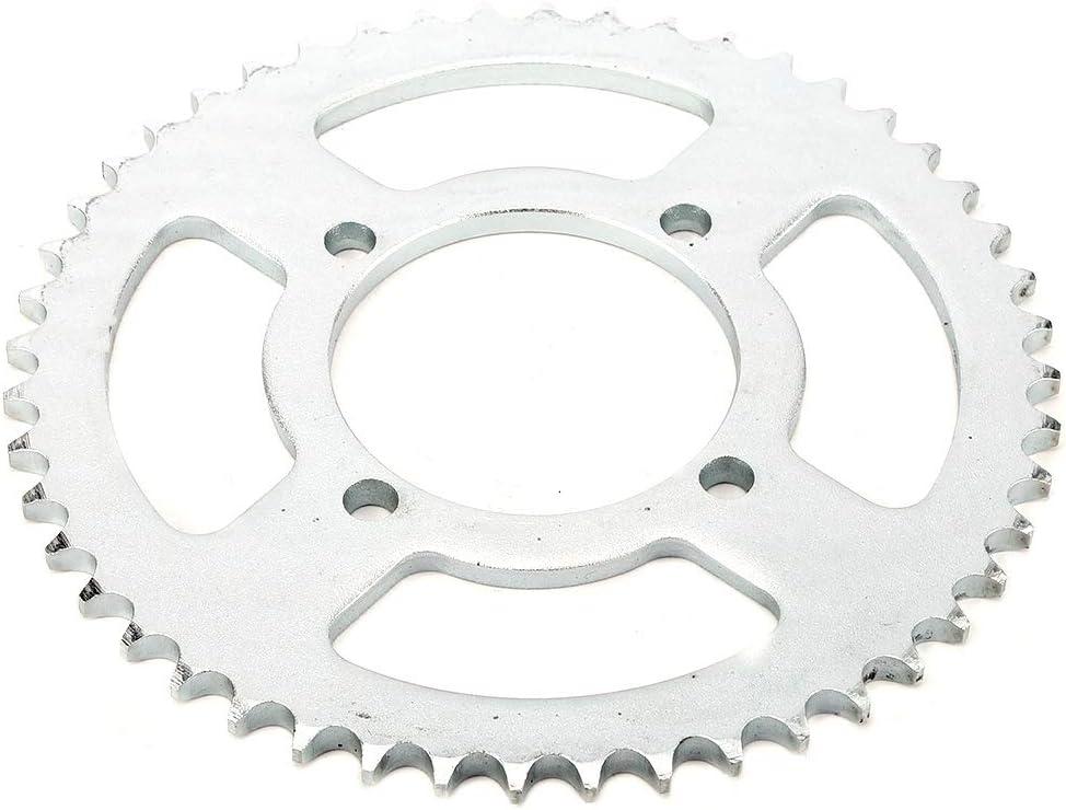 dientes 48T 76mm 428 Cadena Pi/ñ/ón trasero de aluminio Cog Fit para 250cc Pit Trail Dirt Bike Motorcros KIMISS Pi/ñ/ón trasero