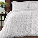 LaMont Home Arianna Bedspread, Queen, White