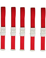 Zaptex Buckle Tourniquet First Aid Quick Release Medical Emergency Pack of 5 (Red)