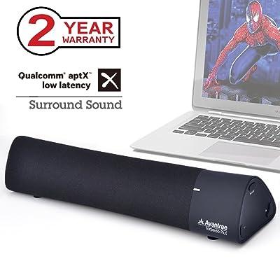 Avantree aptX Low Latency Laptop Speakers Sound Bar