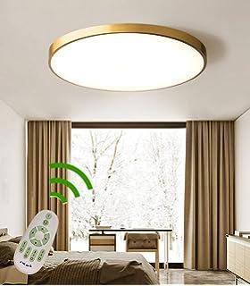 LED Deckenleuchte Wohnzimmer Lampe Schlafzimmer Kinderzimmer Deckenlampe Gold Runde Ringe 3-Flammen Kronleuchter Deckenbeleuchtung Dimmbare Fernbedienung K/üche Lampe Flur Deckenleuchte