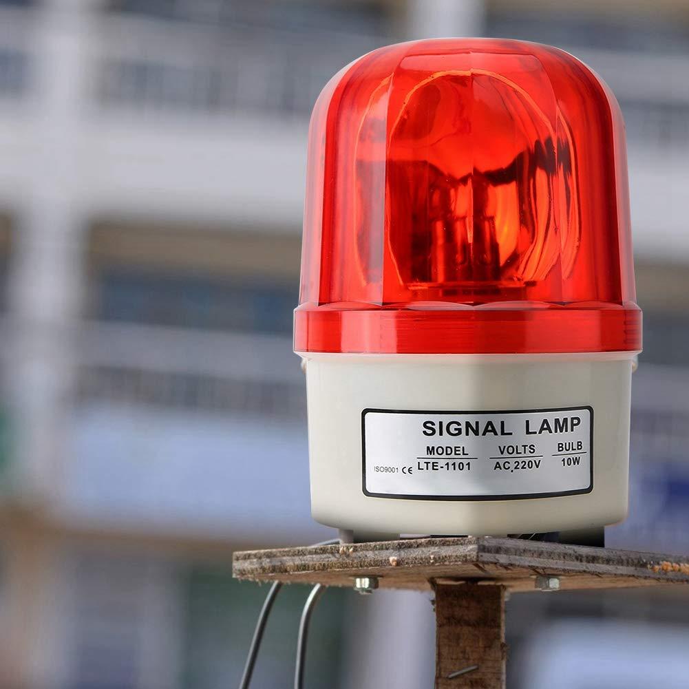 Spia luminosa a LED a stelo rotante LED a 2 fili 10W lampada di sicurezza di emergenza luce di allarme ad alta luminosit/à per evitare il pericolo ingegneria del traffico flash DC12V