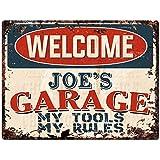 JOE/'S Garage Black Grunge Personalized Sign Wall Decor Gift 112180005015