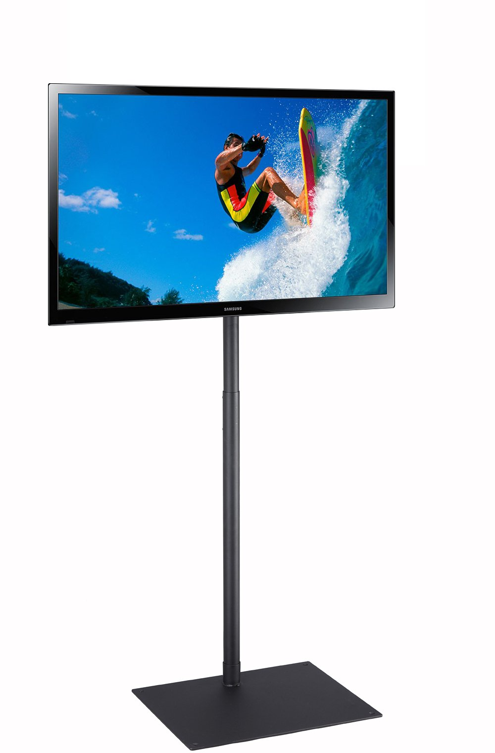 Elitech TV Display Portable Floor Stand Height Adjustable Mount for Flat Panel LED LCD Plasma Screen 32'' to 55'', Movable Free-Standing Stand or Bolted on the Floor as a Fixed Stand