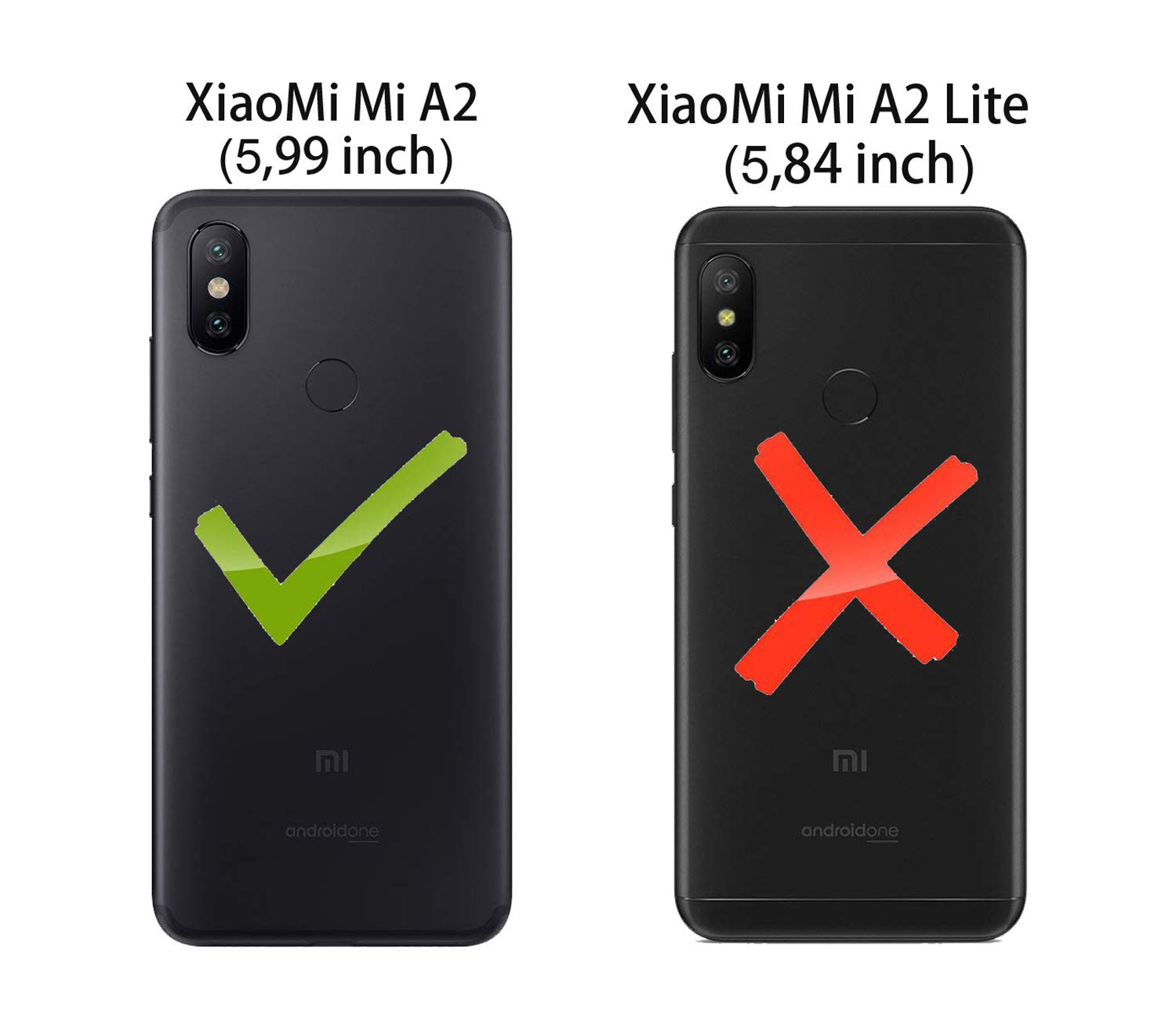 FaLiAng Funda XiaoMi Mi A2, 3 en 1 Desmontable Anti-Arañazos Hard ...