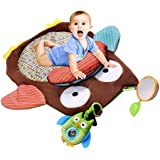 Cute Cartoon Owl Baby Infant Tummy Time Crawling Play Mat Toddler Game Pad Pillow Toy