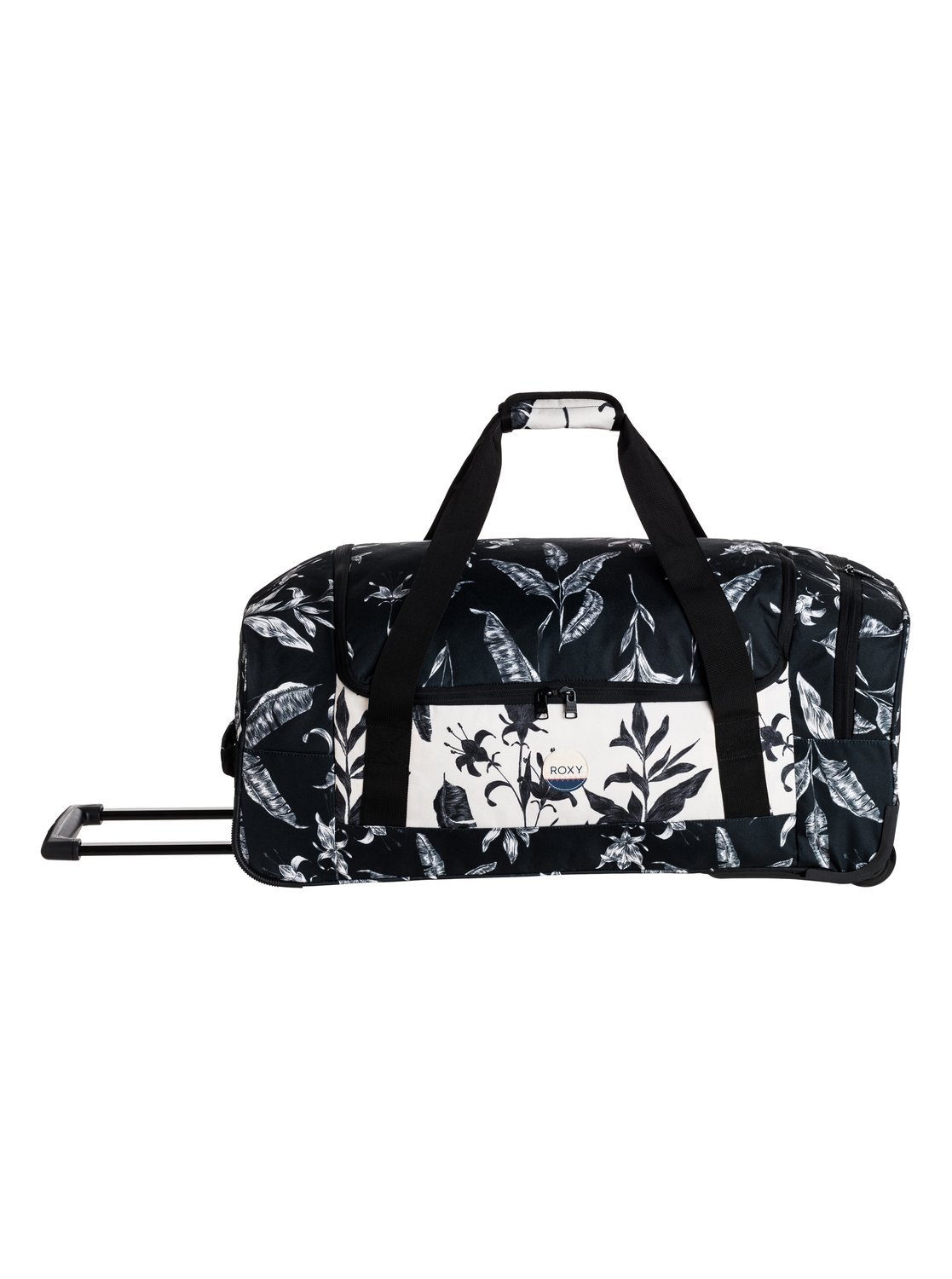 Roxy Womens Distance Across 60L - Large Wheelie Duffle Bag - Women - One Size - Black Anthracite Love Letter One Size