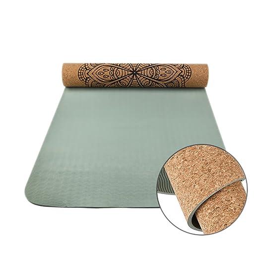 FANFF - Esterilla de Yoga de 6 mm de Grosor, Gran Densidad ...