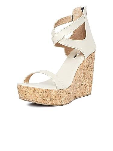 f3d94f0fa0a MarcLoire Women s Cream Synthetic Solid Heels (36 ...