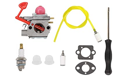 carburetor fuel line filter tool carb kit for poulan craftsman gas pro blower bvm200c bvm200vs p200c w325 gbv325 p32 weedeater chainsaw replaces Racor Fuel Gas Filters