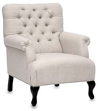 Joussard Linen Club Chair in Beige - BedBathandBeyon​d.com