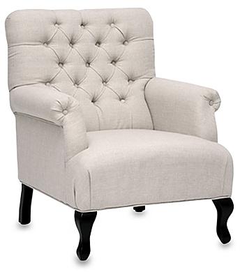 Joussard Linen Club Chair in Beige - BedBathandBeyond.com