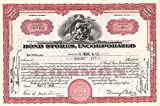Bond Stores Incorporated - Stock Certificate