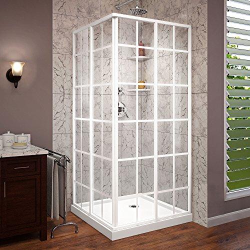 DreamLine DL-6789-00 French Corner Shower Enclosure And Base, 36