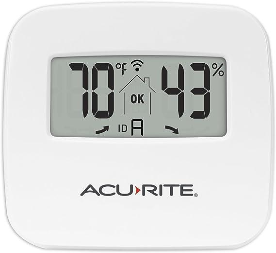 Term/ómetro meteorol/ógico term/ómetro Digital de Temperatura Exterior para Interiores Sensor Remoto meteorol/ógico Receptor pluvi/ómetro Term/ómetro meteorol/ógico port/átil