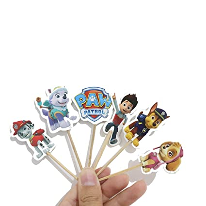 24pcs Paw Patrol Party Cake Decorations Toppers Birthday Party Supplies Toppers