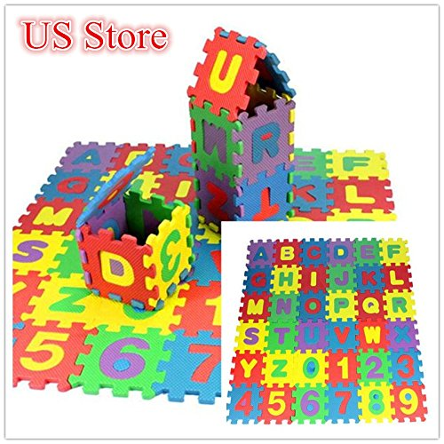 Rong Halloween 36Pcs Baby Child Number Alphabet Puzzle