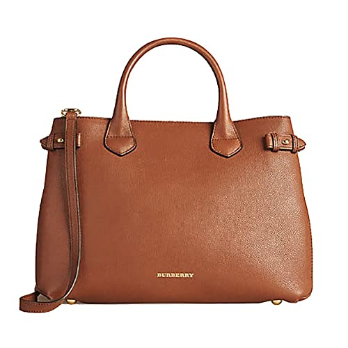 6070a3415996 Amazon.com  Tote Bag Handbag Authentic Burberry Medium Banner in Leather  and House Check TAN Item 39807941  Shoes