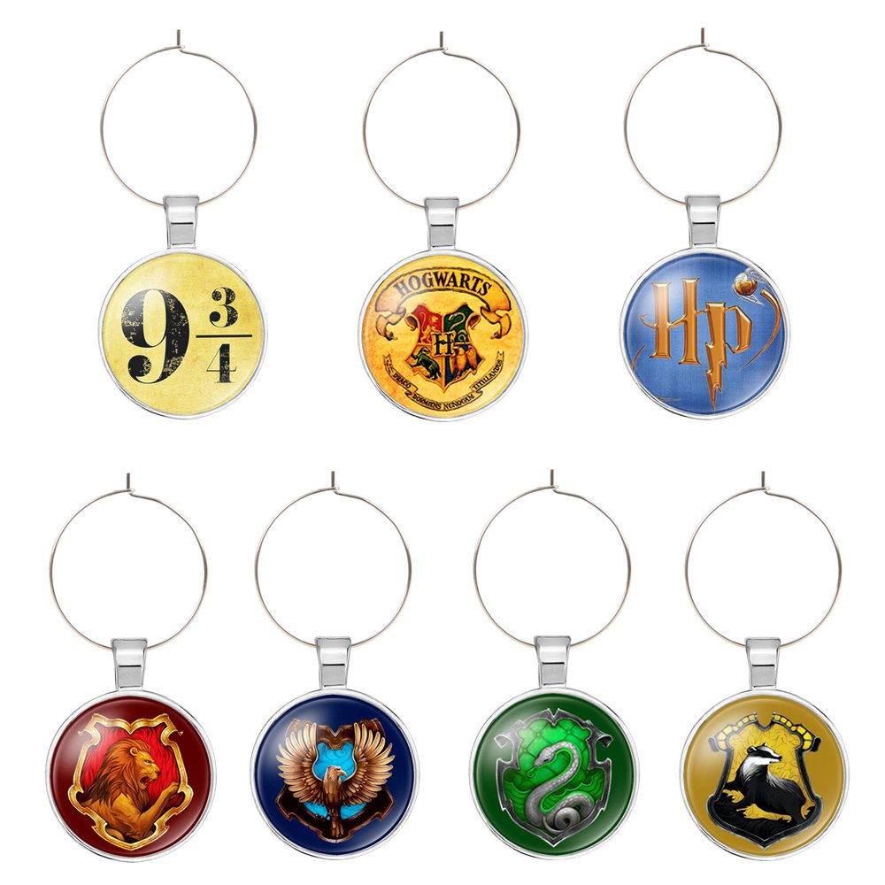 New Happy Element Potter Party Supplies Wine Glass Charms Tags Drink Markers (7PCS/Set) Gifts