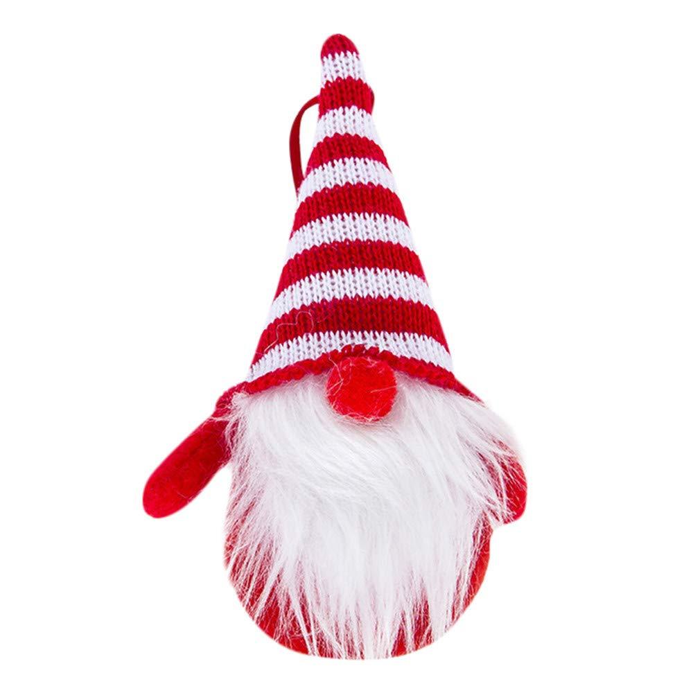 Zolimxmen Handmade Santa Cloth Doll Christmas Ornaments for 2019, Christmas Tree Topper Hanging Pendant Tag DIY Craft Birthday Present for Party Holiday
