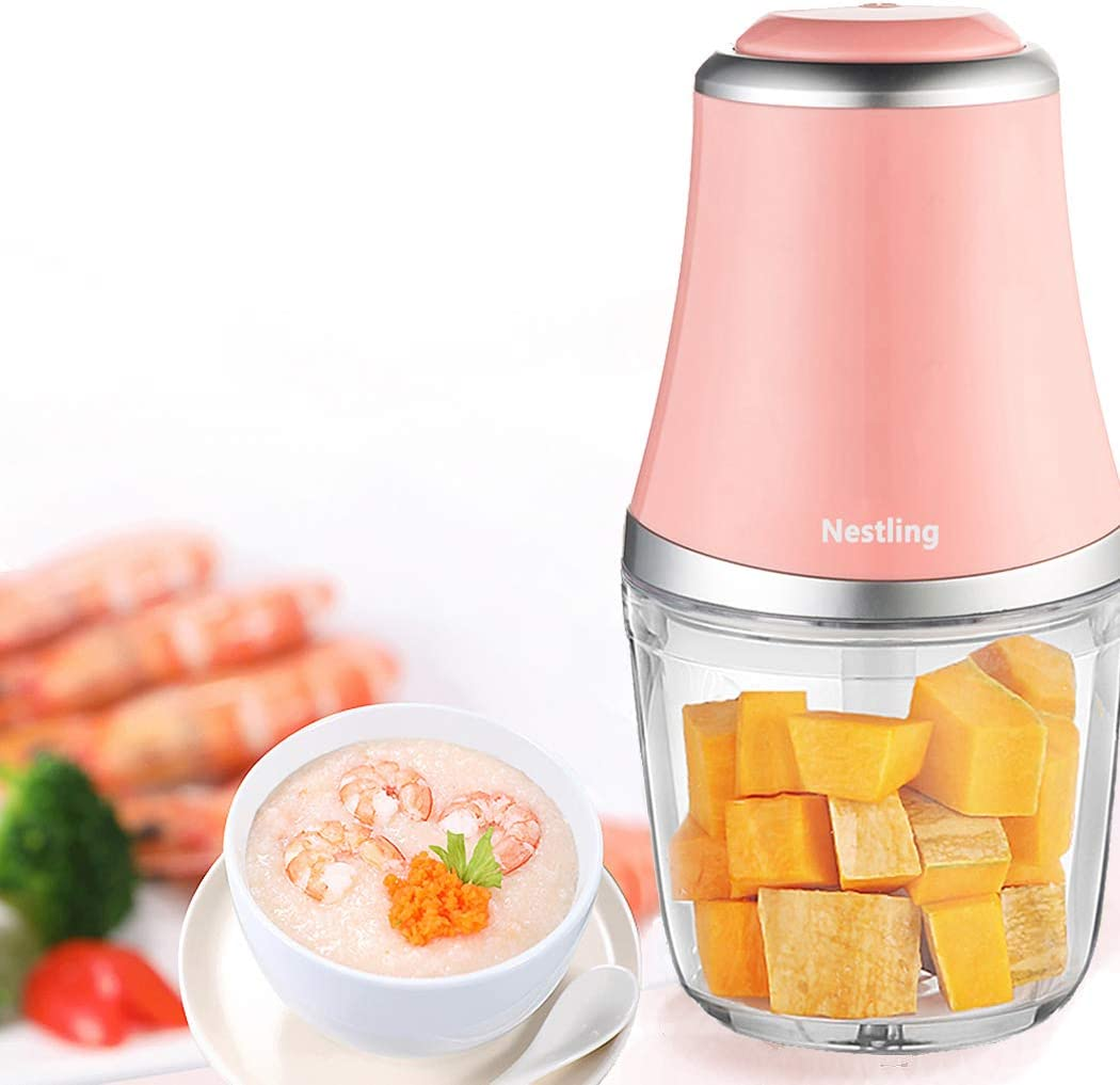 Nestling 280W Minipicadoras Eléctrico Picador, 600 ml Procesador ...