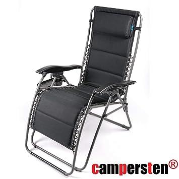 Campersten 2in1 Komfort Campingstuhl Liegestuhl Bungee Seil
