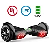 TOMOLOO Hoverboard with Bluetooth Speaker & LED Light and App Black Two-wheel Self Balancing Scooter with UL2272 Certified