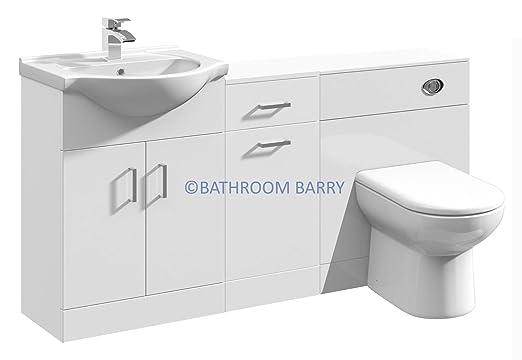 1500 Mm Modular Hochglanz Weiss Badezimmer Kombination Waschtisch