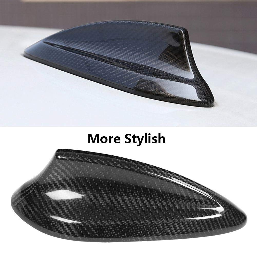 Antenna Cover,Car Carbon Fiber Antenna Shark Fin Cover Trim for BMW F22 F30 F35 F34 F32 F33 F80