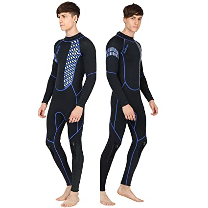 3b82cb9b1f GoldFin Mens Wetsuit Full Body Diving Suit- 3mm Neoprene Surfing Wetsuit  Back Zip Long Sleeve