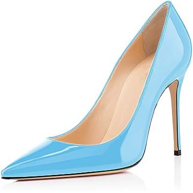 53e4bb0fbf716e elashe Damen Spitze Zehe Schuhe 4 inch High Heel Pumps Hohen ...