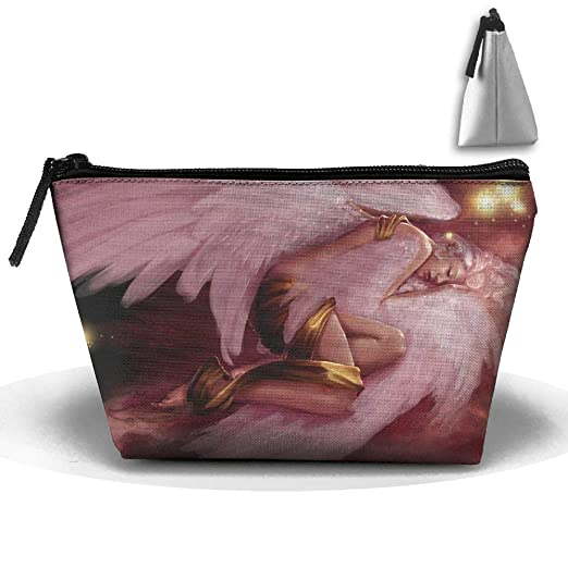 Amazon.com  Trapezoidal Cosmetic Bags Makeup Toiletry Pouch Fantasy Pink  Angel Wings Travel Bag Phone Purse Pencil Holder  Clothing 74e90e16ea793