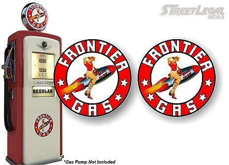 Amazon.com: 2 Vintage Frontier Gasolina pin-up girl Rocket ...