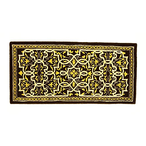 (Minuteman International Tabriz Classic Wool Hearth Rug, Deep Olive)